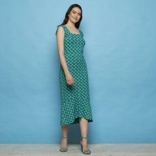 Dress Naisula Green in organic cotton jersey