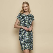 Dress Patraea Blue in organic cotton jersey