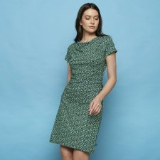 Dress Patraea Green in organic cotton jersey
