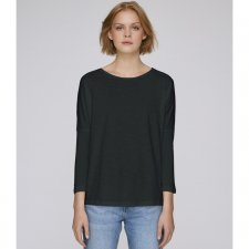 Dropped shoulder long sleeve tee-shirt