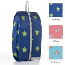 "Ecological folding bag in recycled plastic ""Save our Oceans"""