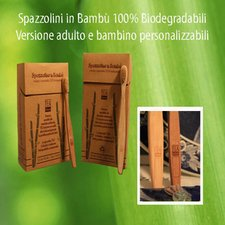 Ecological toothbrush for children in bamboo