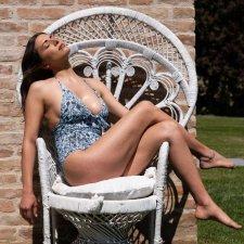 ECONYL® One-piece Swimsuit Eco Flowers
