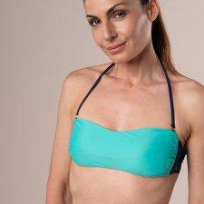 ECONYL® Swimsuit Top Bandeau Green eco bikini