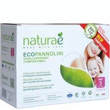 Ecopannolini Compostabili Naturaè® MIDI 4-9 kg, 22 pz