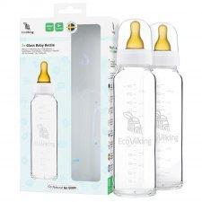EkoViking Glass Bottles 240ml - pack of 2