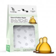 EkoViking natural rubber round nipple for wide neck bottle