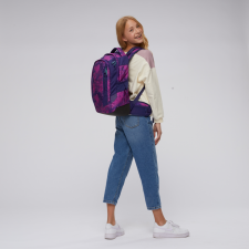 Ergonomic backpack Satch Sleek Stardust for secondary school in Recycled Pet