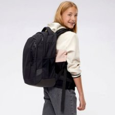Ergonomic backpack Satch Sleek Blackjack for secondary school in Recycled Pet