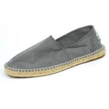 Espadrilles gray in organic cotton canvas and jute