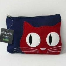 Fair trade pouch in silk Kitty