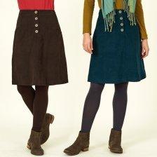 Fairtrade cotton velvet skirt