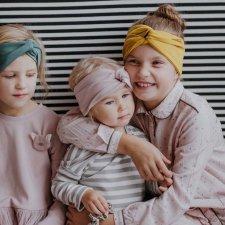 Fascia per capelli incrociata per bambine in cotone biologico