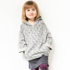 Felpa Splatter per bambini con Cappuccio in Cotone biologico