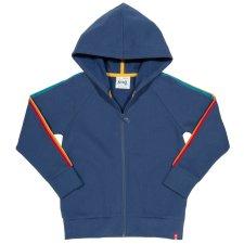 Felpa per bambino Side Stripe con zip e cappuccio in cotone biologico