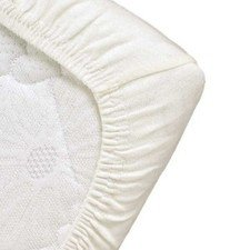 Fitted sheet for cot in organic cotton