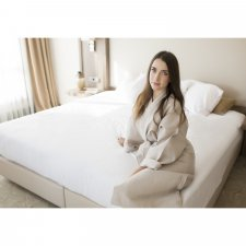 Fitted sheet Natural White in organic cotton
