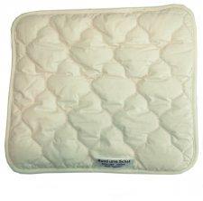 Flat pillow 40x35 in organic cotton