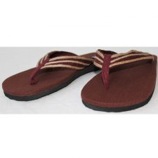 Flip-flops in hemp Bordeaux