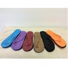 Flip-flops in hemp Coloured