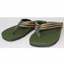 Flip-flops in hemp Green