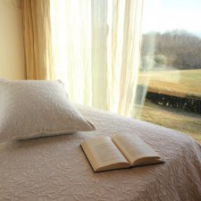 Flower double bedspread in organic cotton