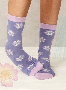 Flower socks in bamboo