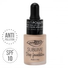 Fondotinta Drop Foundation Sublime 01 Y puroBIO VEGAN