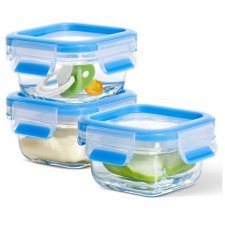 Food container in tempered diamond glass - 3 pcs