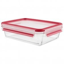 Food container in tempered diamond glass 1,3l