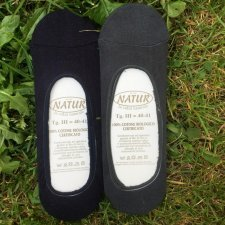 Foot peds socks in dyed organic cotton
