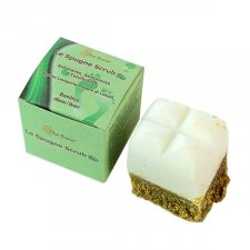 Footbath soap scrub spong Basil
