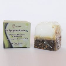 Footbath soap scrub sponge TEA TREE LEMON