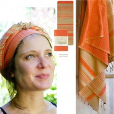 FOUTA SAND and MANDARIN in organic cotton