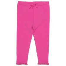 Frill leggings in organic cotton for baby girls
