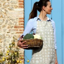 Fruits apron in organic cotton