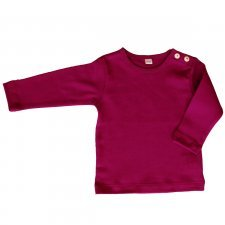 Fuchsia organic cotton long sleeve shirt