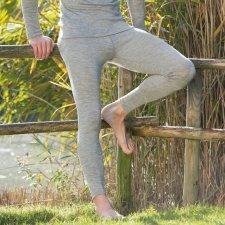 Mutande Lunghe uomo grigio in lana biologica e seta