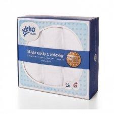 Asciugamani in mussola di cotone bio set 3 pezzi Bianco