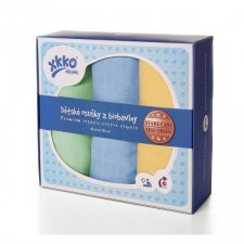 Asciugamani in mussola di cotone bio set 3 pezzi Pastello
