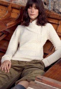 Giacca a maglia Asgard con zip laterale da donna in pura lana