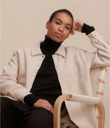Giacca camicia Luna da donna in pile di cotone biologico