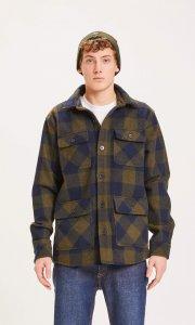 Giacca camicia PINE a scacchi da uomo in lana riciclata