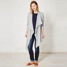 Giacca con zip in cotone biologico e lana