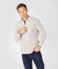 Giacca con zip Rockbrook a coste da uomo in pura lana