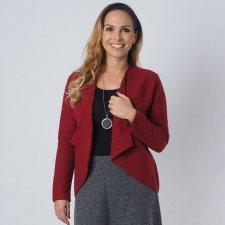Giacca donna rubino in lana cotta biologica