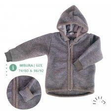 Giacca in lana cotta Grigia Popolini in pura lana merino biologica