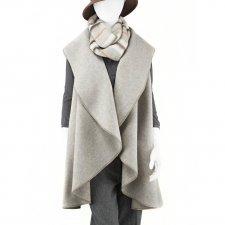 Giacca smanicata donna in feltro di lana merino