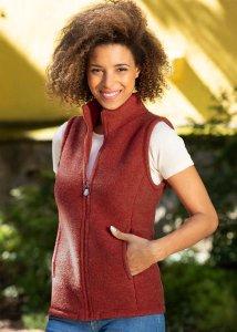 Gilet Engel da donna in pile pesante di lana biologica
