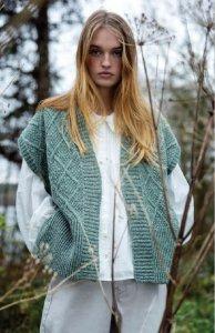 Gilet Nettle da donna con motivo a diamante in pura lana